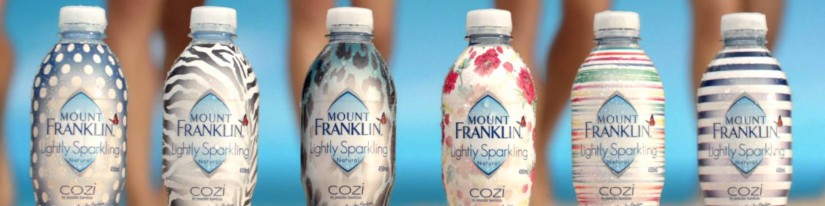 Mt Franklin Lightly Sparkling & Cozi by Jennifer Hawkins: Advertisement